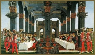 1175 11 Botticelli-La historia de Nastagio degli Onesti (IV) 1483-Museo Pucci Florencia