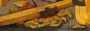 ACCETTA per SQUADRARE Antonio Vivarini (Venezia, attivo dal 1441 - morto 1476/84), San Pietro Martire guarisce la gamba di un giovane (The Metropolitan Museum of Art)
