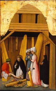 Antonio Vivarini (Venezia, attivo dal 1441 - morto 1476/84), San Pietro Martire guarisce la gamba di un giovane (The Metropolitan Museum of Art)