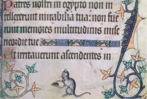 aDESART-Miniature-medievali-Gatto-domestico-che-gioca-con-un-topo
