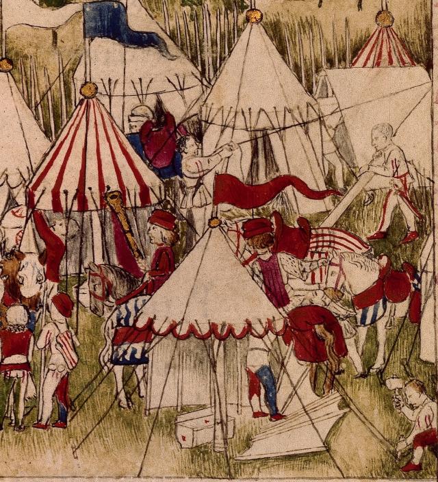 RC-C-07084 folio 1 recto Accampamento del Re  Alfonso d'Aragona dettaglio tende