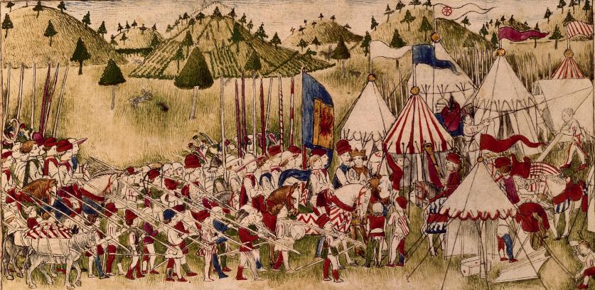 RC-C-07084 folio 1 recto Accampamento del Re  Alfonso d'Aragona