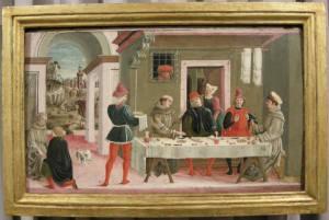 Scuola bolognese, morte del cavaliere di celano, 1475-1480 ca.