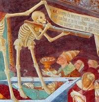 clusone-affreschi-morte dettaglio schioppetto