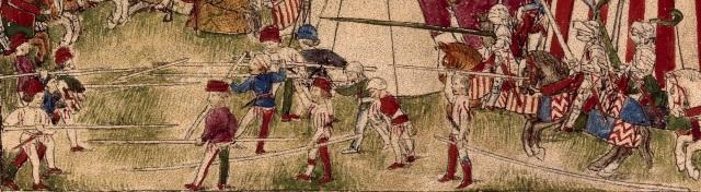 hesperis arsenal folio 26 recto Combattimento attorno a Populonia - dettaglio lanze longhe