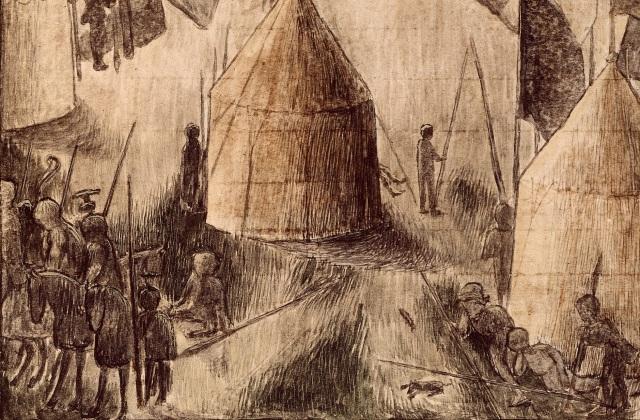 hesperis arsenal RC-C-07085 folio 15 recto Assedio di Populonia - dettaglio lanze longhe