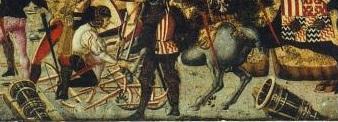 assedio-Piombino-1448 cassone ligneo conservato al Ringling Museum di Sarasota - dettaglio